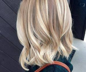 hair, blonde, and brown image