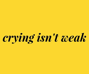 quotes, yellow, and crying image