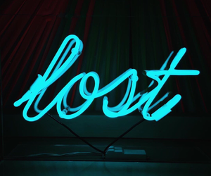 neon, lost, and light image