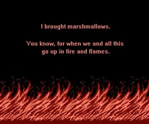 fire, flames, and quotes image