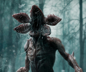 tv serie, strangers things, and demogorgon image