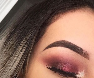 makeup, eyebrows, and eyeshadow image