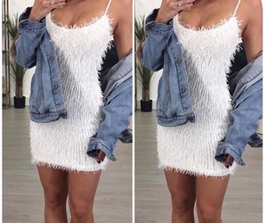 dress, fashion, and fluffy image