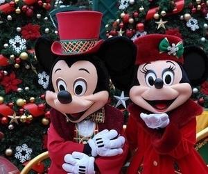 christmas, disney, and mickey mouse image