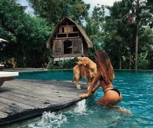bikini, bora bora, and vacation image