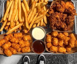 food, fried, and nourriture image