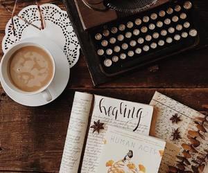 autumn, books, and coffee image
