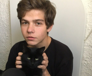 boy, boys, and cat image