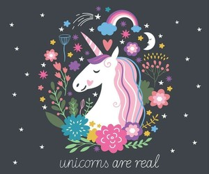 unicorn, magic, and fantasy image