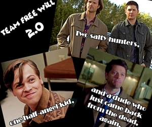dean, supernatural, and team free will image