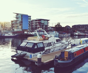 autumn, Bristol, and boats image