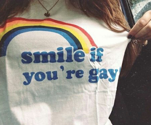 gay, rainbow, and smile image