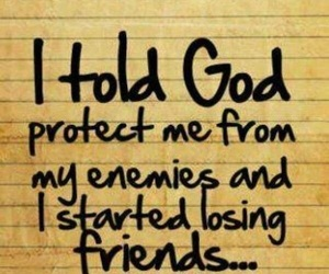 god, friends, and enemy image