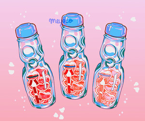 asian, drinks, and pink image