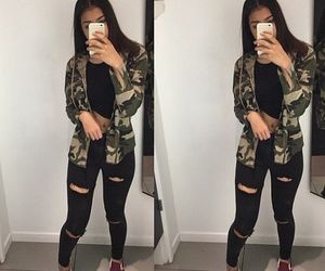 camo, outfit, and instagram image