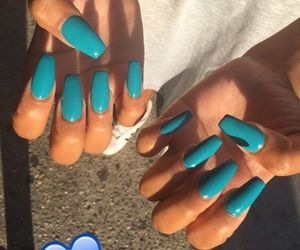 long, long nails, and fleek image
