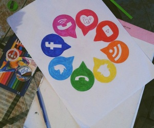 color wheel, colors, and social media image