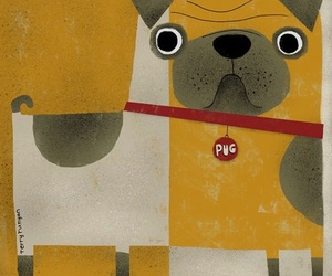 art, pug, and abstrakt image