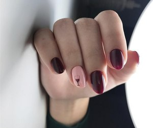 manicure, nails, and wine image