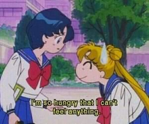 sailor moon, anime, and food image
