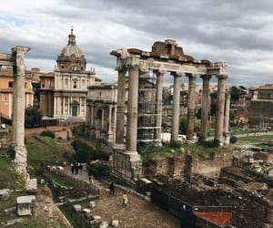 architecture, city, and forum romanum image