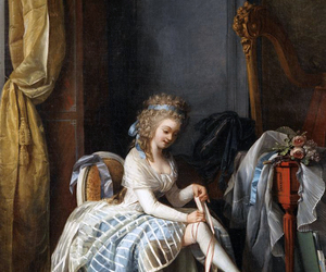 art, lady, and old image