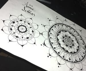 draw, drawing, and mandala image