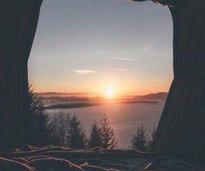 lake, sun, and travel image