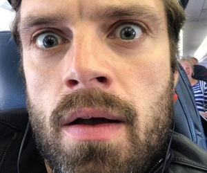 sebastian stan, actor, and funny face image