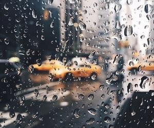 rain, car, and city image