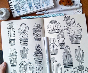 cactus, art, and draw image