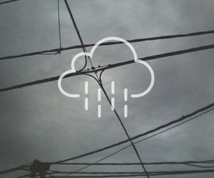 rain, grunge, and clouds image