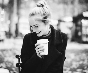 black and white, girls, and winter image