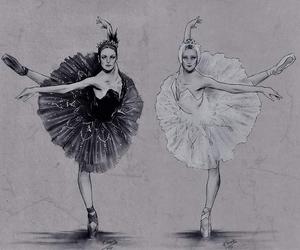 bailarinas, ballet, and cisne negro image