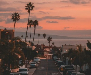 sunset, california, and city image