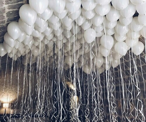 balloons, white, and party image
