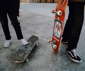 grunge, skateboard, and vans image