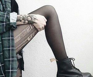 black boots, dr martens, and grunge image
