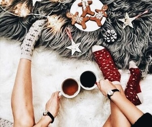 chic, christmas, and friendship image