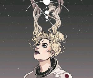 sailor moon, space, and astronaut image