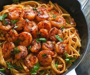 shrimp, pasta, and delicious image