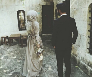 hijab and couple image