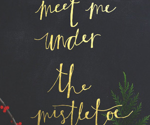 christmas, mistletoe, and wallpaper image