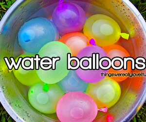 amazing, beach, and water balloons image