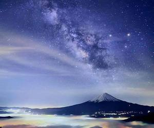 beauty, stars, and blue image