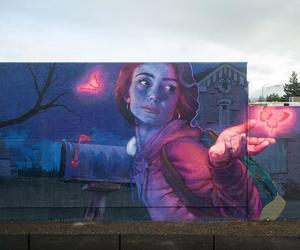 napa valley, redhead mural street art, and knocking on heaven's door image