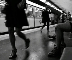 train, black and white, and black image