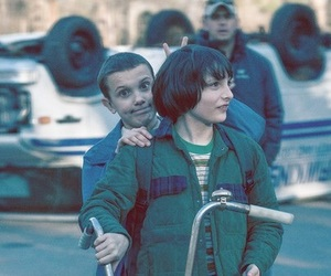 eleven, stranger things, and finn wolfhard image