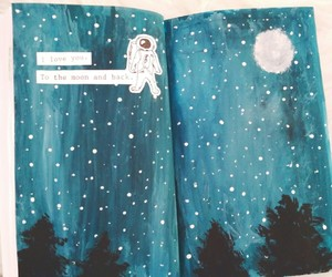 astronaut, craft, and forest image