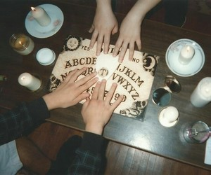 aesthetic, black, and ouija board image